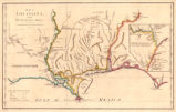 Map of Louisiana, from d'Anville's atlas.