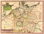 A new map of present Germany : shewing its principal divisions, cities, towns, rivers, mountains...