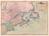 A New and correct map of the British colonies in North America comprehending eastern Canada with...