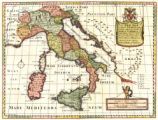 A new map of antient Italy, together with the adjoyning islands of Sicily, Sardinia, and Corsica :...
