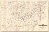 Map of United States military rail roads, showing the rail roads operated during the war from...