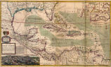 A map of the West-Indies or the islands of America in the North Sea; with ye adjacent countries;...