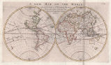 A New Map of the World, shewing the course of Sr. Francis Drake, William Schouten and Capt....
