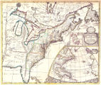 A new map of the English empire in America viz Virginia, New York, Maryland, New Iarsey, Carolina,...