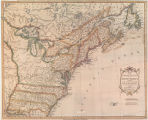 Map of the United States in North America with the British, French and Spanish dominions...