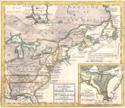 An accurate map of the British empire in Nth. America as settled by the preliminaries n 1762.