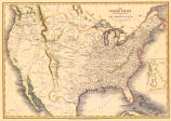 The United States : & the relative position of the Oregon & Texas
