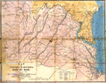 Map of Virginia, Maryland &c., seat of war, compiled from the latest maps, 1861