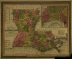 A new map of Louisiana : with its canals, roads & distances from place to place along the...