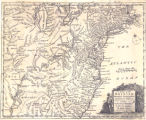 Map of the British American plantations, extending from Boston in New England to Georgia :...