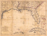 A map of East and West Florida, Georgia, and Louisiana : with the islands of Cuba, Bahama, and the...