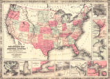 Johnson's new military map of the United States showing the forts, military posts &c. with...