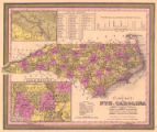 A new map of Nth. Carolina : with its canals, roads & distances from place to place, along the...