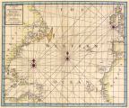 A chart of the Great Western Ocean with the coast of Europe Africa and America from lat 6 to lat...
