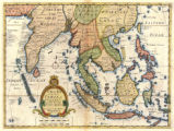 New map of the East Indies taken from Mr. de Fer's map of Asia shewing their cheif [sic]...