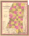 New map of Mississippi : with its roads & distances