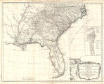 General map of the southern British colonies in America, comprehending North and South Carolina,...