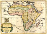 A new map of Africk shewing its present general divisions, cheif [sic] cities or towns, rivers,...