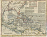 An accurate map of the West Indies. Exhibiting not only all the islands posses'd by the English,...