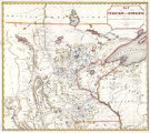 Map of the territory of Minnesota exhibiting the route of the expedition to the Red River of the...