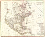 Bowles's new one-sheet map of North America : divided into it's provinces, colonies, states,...