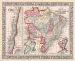Map of Brazil, Bolivia, Paraguay, and Uruguay ; Map of Chili.
