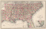 Atlas of the United States. Map of the southern states.