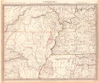 North America. Sheet X : Parts of Missouri, Illinois, Kentucky, Tennessee, Alabama, Mississippi...