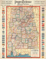 Cram's map of Alabama, showing counties, cities ...