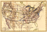 Map of the United States showing the Texas & Pacific Railway and its connections, November,...