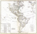 Bowles's new pocket map of America, divided into its provinces, colonies, states, governments,...