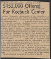 $452,000 offered for Roebuck Center