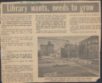 Library wants needs to grow
