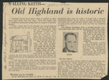 Old Highland is historic
