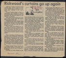Rickwood's curtains go up again