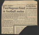Two Negroes fined in football melee