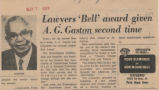 Lawyers Bell award given A. G. Gaston second time