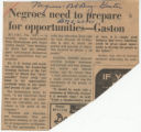 Negroes need to prepare for opportunities-- Gaston