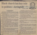 Black church has key role in politics- Arrington