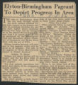 Elyton-Birmingham Pageant to depict progress in area