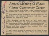 Annual meeting of ELyton Village Community Center