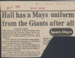 Hall has a Mays uniform from the Giants after all