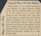 Colonel Mays of the militia