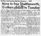 Move to free Shuttlesworth 13 others passed to Tuesday