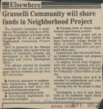 Grasselli Community will share funds in neighborhood Project
