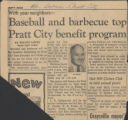 Baseball and barbecue top Pratt City benefit program