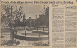 Five Points South neighborhood clippings file