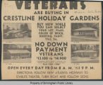 Veterans are buying in Crestline Holiday Gardens