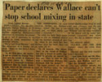 Paper declares Wallace cant stop mixing in state