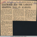 Eastwood has the largest shopping mall in Alabama